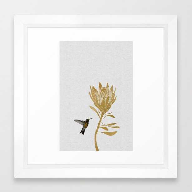 Hummingbird & Flower I Framed Art Print - Society6