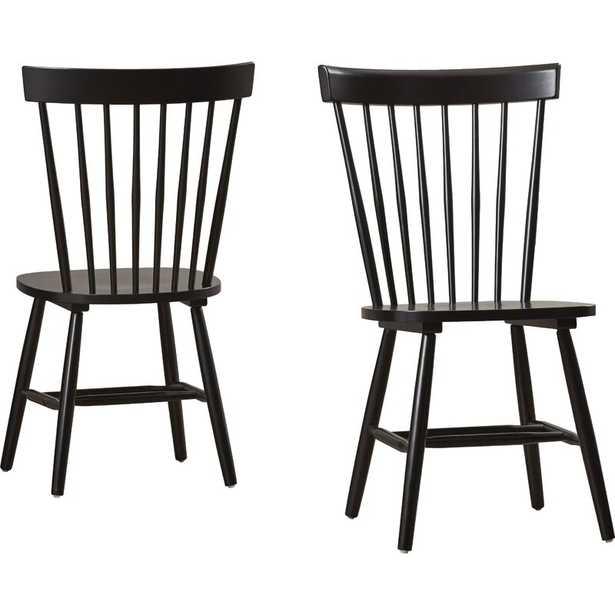 Roudebush Solid Wood Dining Chair (2 included) // Black - Wayfair