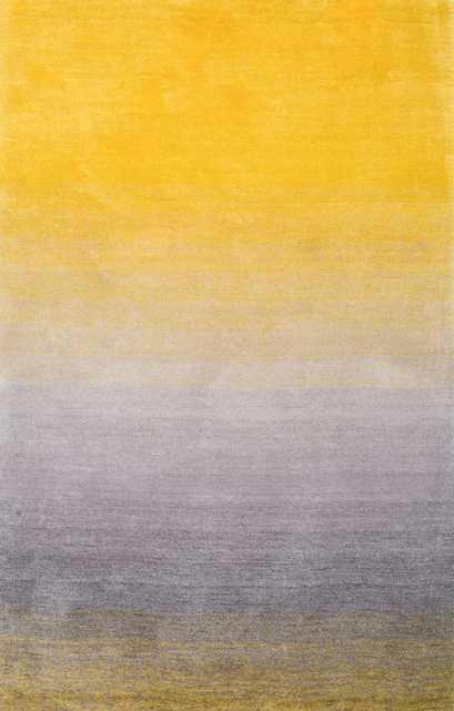 Handmade Ombre Shag Rug - Yellow - 6'x9' - Loom 23