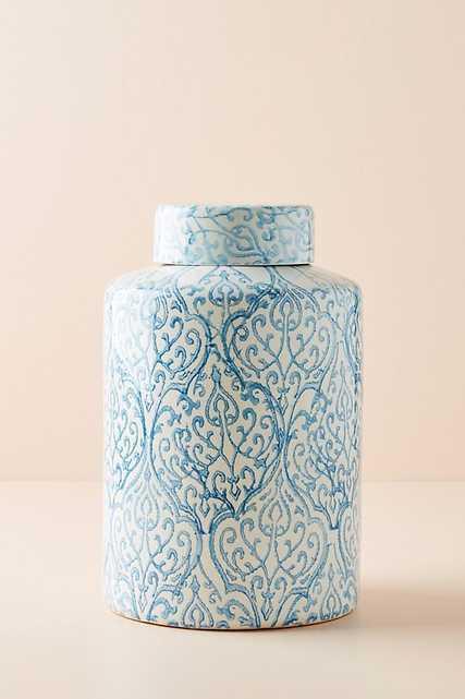 Azora Patterned Jar - Anthropologie