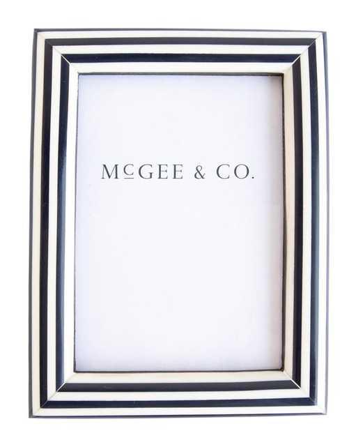 NAVY STRIPE FRAME - McGee & Co.