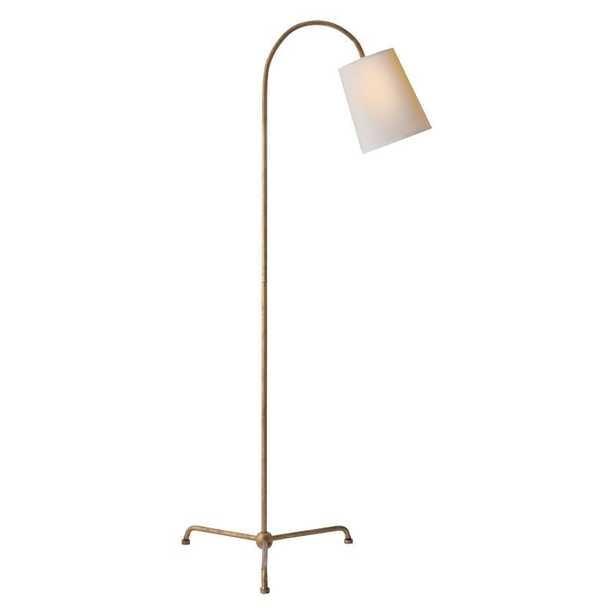 MIA FLOOR LAMP - GILDED IRON - McGee & Co.