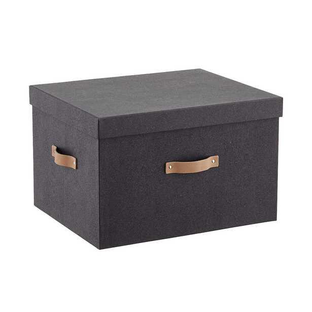 Black Woodgrain Letter/Legal File Storage Box - containerstore.com