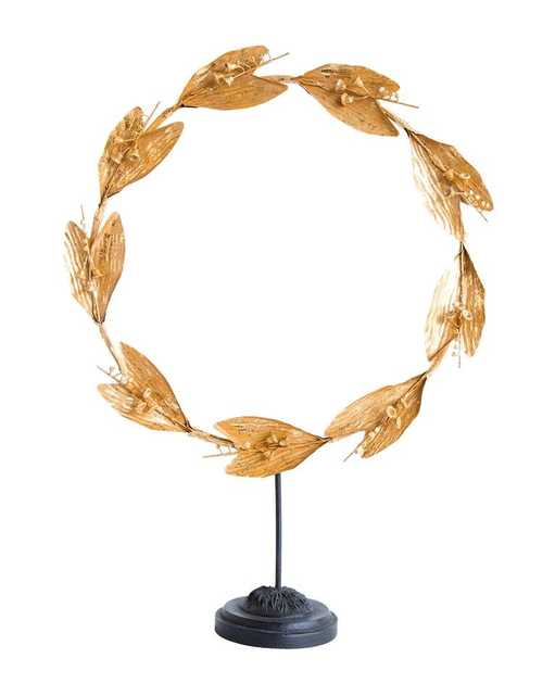 LILY OF THE VALLEY WREATH ON STAND - McGee & Co.