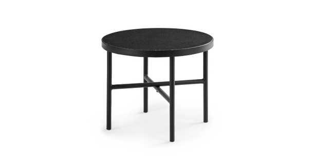"Gera Black Granite 24"" Side Table - Article"