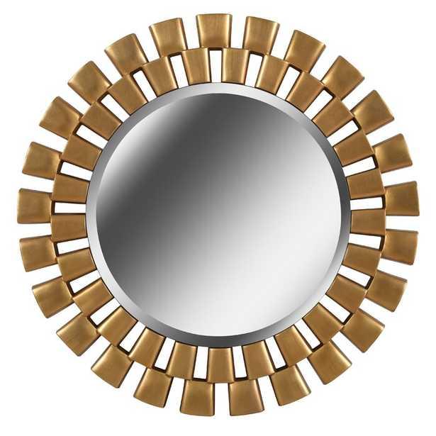 Glam Beveled Accent Mirror- Gold - Wayfair