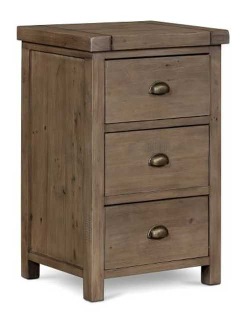 Beckett Reclaimed Wood Nightstand, Sundried Ash - Pottery Barn