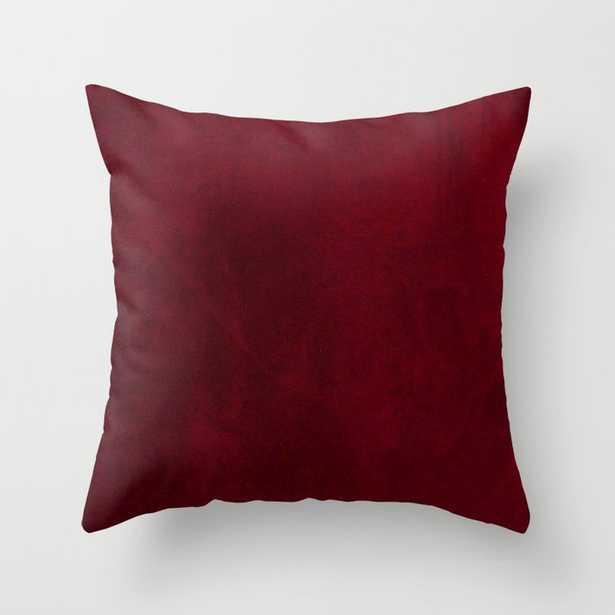 VELVET DESIGN - red, dark, burgundy Throw Pillow - Society6