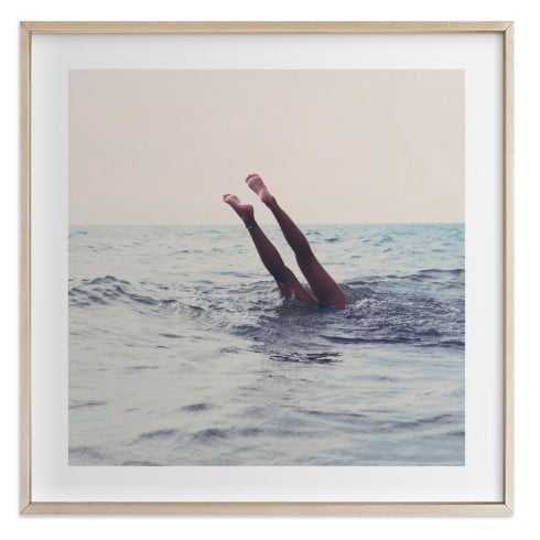 """Summer Handstand, 30"""" Framed Art - Minted"""