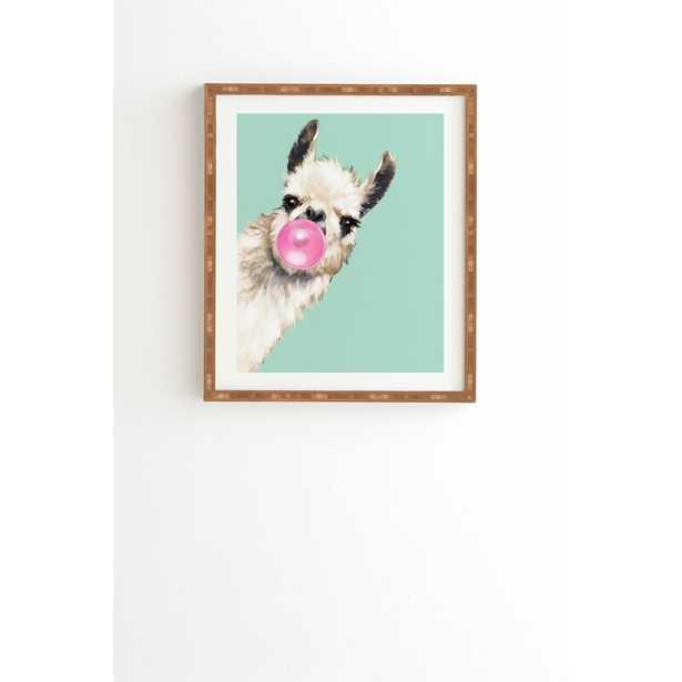 'Bubble Gum Snea Llama Green' Print - Wayfair