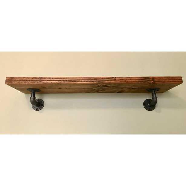 Kathy Industrial pipe rustic wood shelf - Wayfair