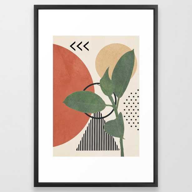 "Nature Geometry III Framed Art Print 26"" x 38"" - Society6"