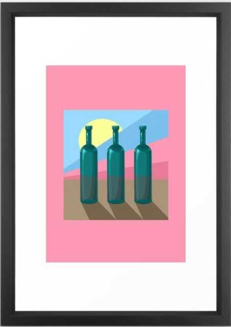 wine Framed Art Print - Society6