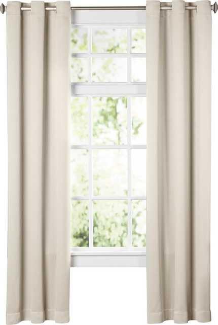 "Wayfair Basics Solid Blackout Grommet Single Curtain Panel - Pearl - 108"" L - Wayfair"