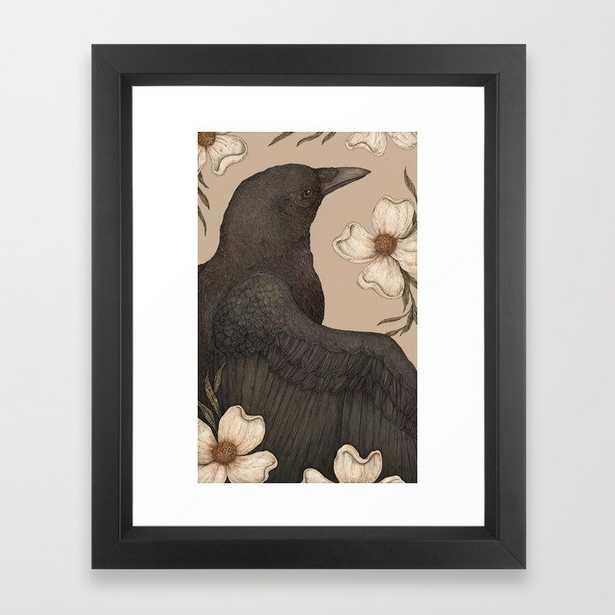The Crow and Dogwoods Framed Art Print - Society6