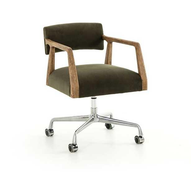 Belden Velvet Swivel Desk Chair - Pottery Barn Teen