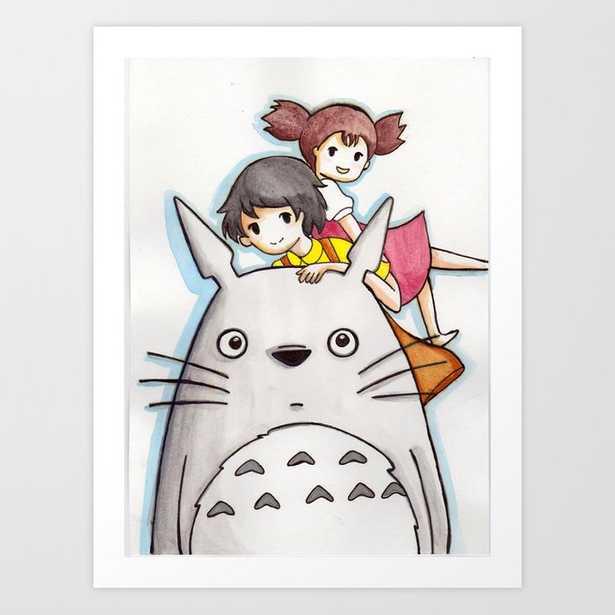 Tribute to My Neighbor Totoro Art Print 8x10 - Society6