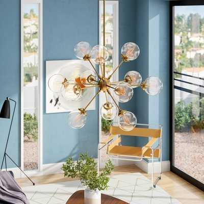 Asher 12-Light Sputnik Chandelier, Gold - Wayfair