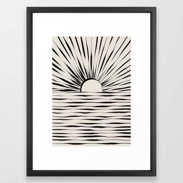 Minimal Sunrise / Sunset Framed Art Print - Society6
