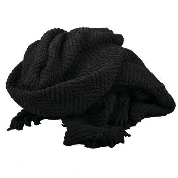 Nader Tweed Knitted-Design Throw - Wayfair