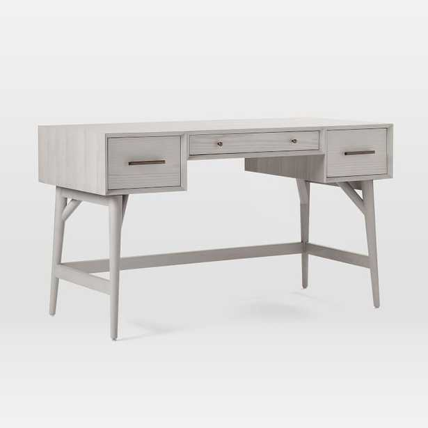 Mid-Century Desk, Pebble - West Elm