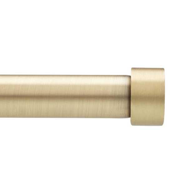 Cappa 1 in. Dia Single Rod 36 in. - 66 in. in Brass - Home Depot
