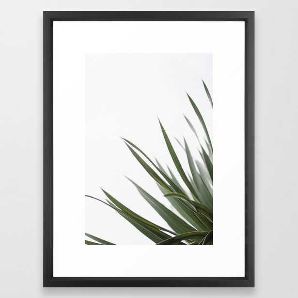 "Wall Art - Olive Spines - Framed Print Vector Black - 20"" X 26"" - Society6"