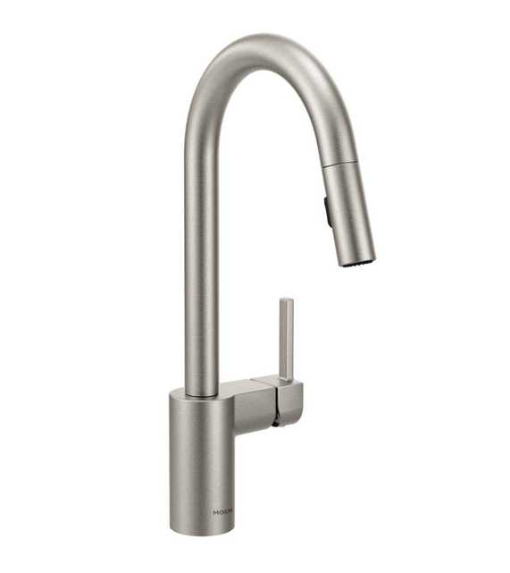Moen Align Single-Handle Pull-Down Sprayer Kitchen Faucet with Reflex in Spot Resist Stainless - Home Depot