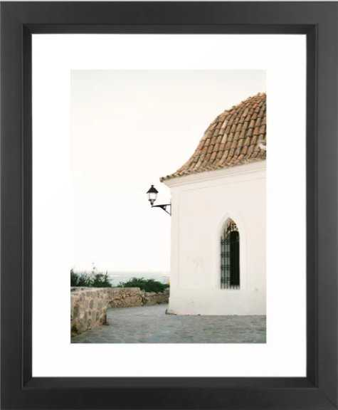 "Travel photography ""Ibiza white""   Modern wall art Ibiza Spain coast white tones sunset Framed Art Print - Society6"