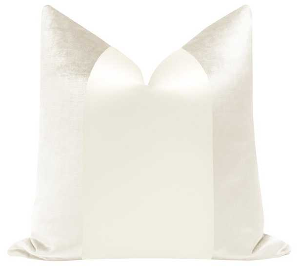 "PANEL Monochromatic :: Faux Silk Velvet // Alabaster 18""x18"" - Little Design Company"