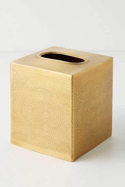 Cyra Bath Collection - TISSUE BOX - Anthropologie