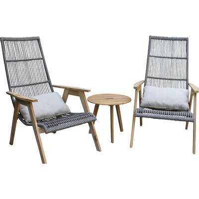 Largent Teak Patio Chair with Cushions -set of 2 - AllModern
