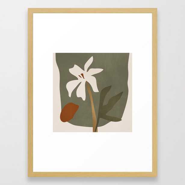 Abstract Minimal Art / Flower Framed Art Print by ThingDesign - Society6