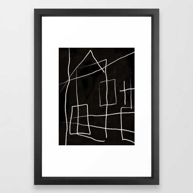 "Diluted Room I Framed Art Print, Vector Black, 15"" x 21"" - Society6"