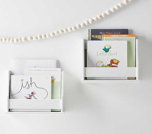 Collector's Mini Book Rack Shelf, White - Pottery Barn Kids