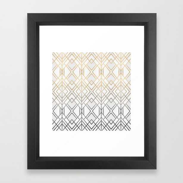Gold And Grey Geo Framed Art Print - Society6