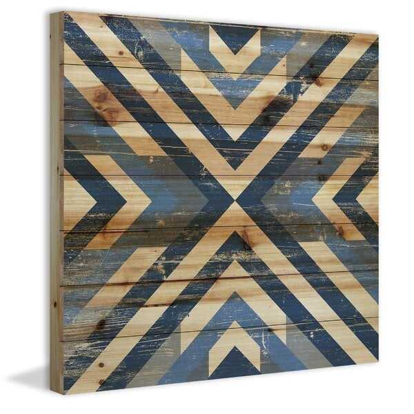 'Converging Blues' Graphic Art Print on Wood - AllModern
