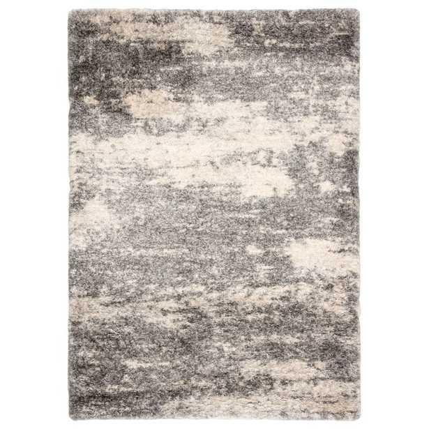 "Rectangle 8'10"" x 11'9"" Manhart Abstract Gray/Beige Area Rug - Wayfair"