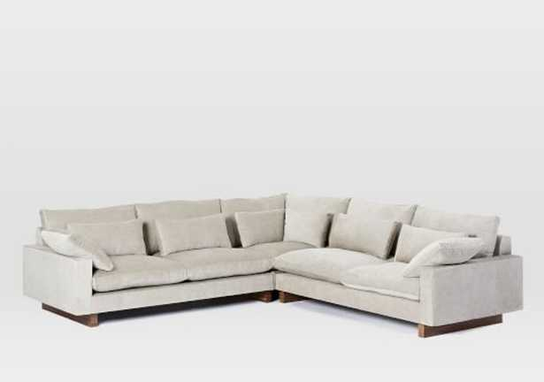 Harmony Down-Filled L-Shaped Sectional - West Elm