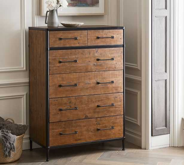 Juno Reclaimed Wood Tall Dresser, Neutral - Pottery Barn