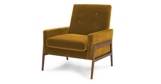 Nord YARROW GOLD AND WALNUT Chair - Article