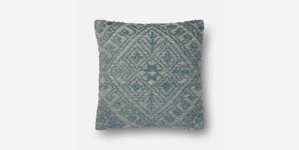 P0550 BLUE pillow with poly fill - Loma Threads
