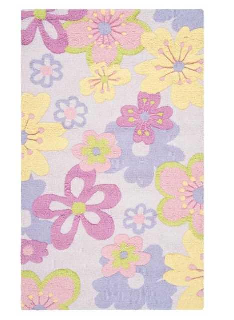 LeVar Floral Handmade Tufted Purple/Pink/Yellow Area Rug - Wayfair