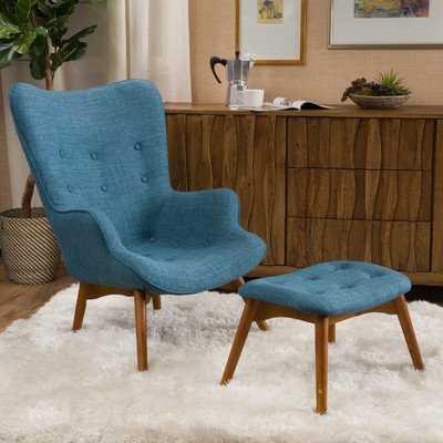 """Canyon Vista 15.75"""" Lounge Chair and Ottoman - Wayfair"""