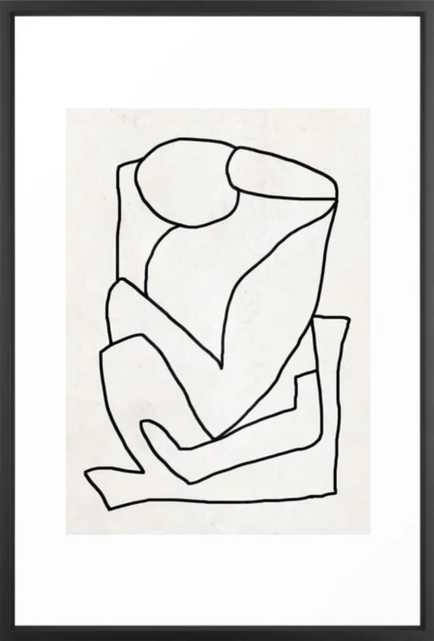 "Abstract line art 2 - 26"" x 38"" - vector black - Society6"