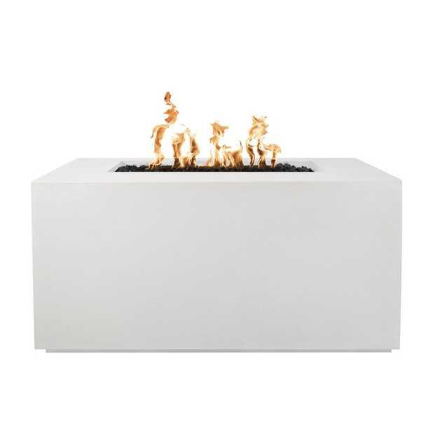 Pismo Concrete Propane/Natural Gas Fire Pit Table, Limestone Finish, Propane Fuel Type - Wayfair