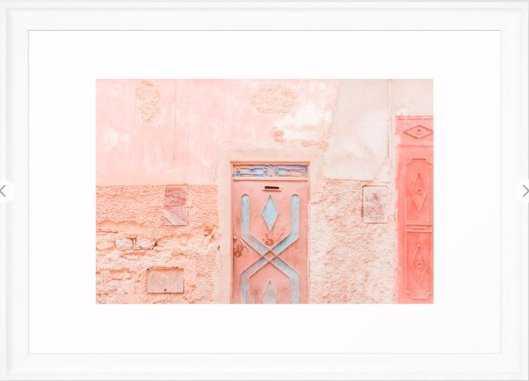 Marrakech Entryway Framed Art Print- 15 x 21 Scoop White - Society6
