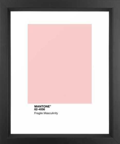 MANTONE® Fragile Masculinity Framed Art Print - Society6