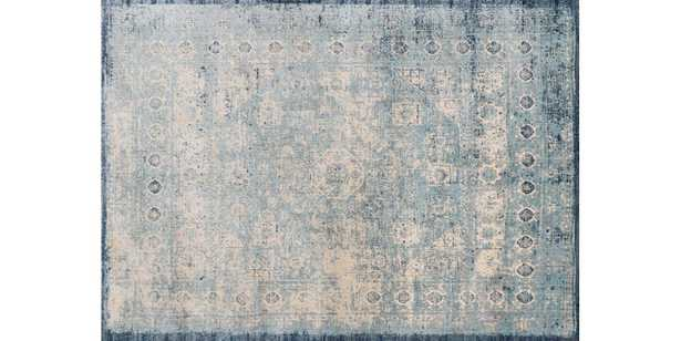 """AF-14 LT. BLUE / IVORY 5'3"""" x 7'8"""" - Loma Threads"""