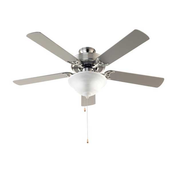 Solana 52 in. Indoor Brushed Nickel Ceiling Fan with Light Kit - Home Depot